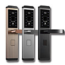 cheap Intelligent Door Locks-Factory OEM Stainless Steel Intelligent Lock Smart Home Security System RFID / Low battery reminder / Anti peeping password Home / Apartment / Hotel (Unlocking Mode Fingerprint / Password