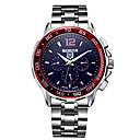 cheap Men's Watches-Tevise Men's Mechanical Watch Japanese Automatic self-winding 30 m Water Resistant / Water Proof Hollow Engraving Noctilucent Stainless Steel Band Analog Casual Fashion Silver - Black / Red Black