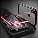 رخيصةأون أغطية أيفون-غطاء من أجل Apple iPhone X / إفون 8 مغناطيس غطاء كامل للجسم لون سادة قاسي زجاج مقوى إلى iPhone X / iPhone 8 Plus / iPhone 8