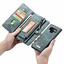 رخيصةأون حافظات / جرابات هواتف جالكسي S-CaseMe غطاء من أجل Samsung Galaxy Note 9 / Note 8 محفظة / حامل البطاقات / قلب غطاء كامل للجسم لون سادة قاسي جلد PU إلى Note 9 / Note 8