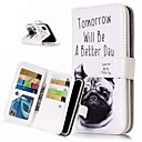 ieftine Becuri LED Glob-Maska Pentru Apple iPhone XS / iPhone XR / iPhone XS Max Portofel / Titluar Card / Cu Stand Carcasă Telefon Câțel Greu PU piele