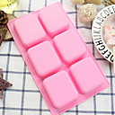 cheap Dog Clothing & Accessories-1pc Silicone Gel New Design For Cake Square Cake Molds Bakeware tools