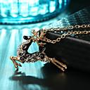 preiswerte Halsketten-Damen Klassisch Anhängerketten / Statement Ketten - Elk Anhänger Stil, Grundlegend, Modisch Cool, lieblich Gold, Silber 64+7 cm Modische Halsketten Schmuck 1pc Für Weihnachten, Festival