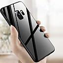 olcso iPhone tokok-Case Kompatibilitás Samsung Galaxy S9 Plus / S9 Ütésálló / Tükör Fekete tok Egyszínű Kemény Hőkezelt üveg mert S9 / S9 Plus / S8 Plus