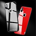 levne iPhone pouzdra-Carcasă Pro Apple iPhone X / iPhone 8 Nárazuvzdorné / Zrcadlo Zadní kryt Jednobarevné Pevné Tvrzené sklo pro iPhone X / iPhone 8 Plus / iPhone 8