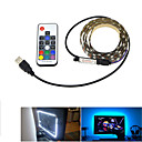 cheap Downlights-1m String Lights 60 LEDs 5050 SMD 17-Key Remote Controller RGB Cuttable / USB / Decorative USB Powered 1 set