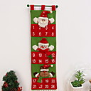cheap Home Decoration-Christmas Ornaments Holiday Fabric Square Novelty Christmas Decoration