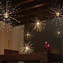 ieftine Benzi Flexibile Becuri LED-zdm rezistent la apă 60 de sucursale120led baterii acționate agățat starburst lumini a condus focuri de artificii lampă condus mătură sârmă de cupru temporizat colorat lanternă creative petrecere fest