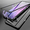 رخيصةأون إكسسوارات سامسونج-غطاء من أجل Samsung Galaxy Note 9 / Note 8 شبه شفّاف غطاء كامل للجسم لون سادة قاسي زجاج مقوى