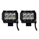 cheap Vehicle Work Lighting-KAWELL 2pcs 4 inch Wire Connection Light Bulbs 18 W 1260 lm 6 LED Working Light