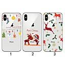 hesapli Pet Noel Kostümleri-Pouzdro Uyumluluk Apple iPhone XR / iPhone XS Max Ultra İnce / Şeffaf / Temalı Arka Kapak Noel Yumuşak TPU için iPhone XS / iPhone XR / iPhone XS Max