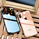 cheap Necklaces-Case For Apple iPhone 8 / iPhone XS Max Plating / Ultra-thin / Translucent Back Cover Solid Colored Soft TPU for iPhone XS / iPhone XR / iPhone XS Max