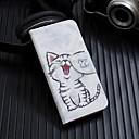 ieftine Becuri LED Bi-pin-Maska Pentru Apple iPhone XS / iPhone XR / iPhone XS Max Întoarce / Model Carcasă Telefon Pisica Greu PU piele