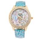 זול שעוני נשים-בגדי ריקוד נשים שעון יד קווארץ דמוי עור מרופד שחור / כחול / אדום עיצוב חדש שעונים יום יומיים חיקוי יהלום אנלוגי נשים אופנתי אלגנטית - כחול ורוד כחול בהיר שנה אחת חיי סוללה