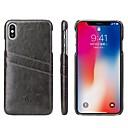 baratos Capinhas para iPhone-Capinha Para Apple iPhone XR / iPhone XS Max Porta-Cartão / Antichoque Capa traseira Sólido Rígida PU Leather para iPhone XS / iPhone XR / iPhone XS Max