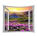 رخيصةأون ملصقات ديكور-مناظر الطبيعيةمربع / العائلة جدار ديكور 100 ٪ بوليستر الحديث جدار الفن, سجاد الحائط زخرفة