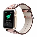 ieftine Colier la Modă-Piele autentică / uretan poli Uita-Band Curea pentru Apple Watch Series 4/3/2/1 Pink 23cm / 9 Inci 2.1cm / 0.83 Inchi