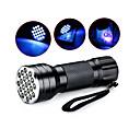 halpa Valaisimet-D12UV-1-0-2 LED taskulamput Mustavalotaskulamput Käsivalaisimet LED 5mm lamppu 21 Emitters 1 lighting mode Vedenkestävä Ultraviolet Light Telttailu / Retkely / Luolailu Päivittäiskäyttöön Metsästys