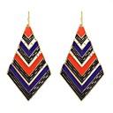 저렴한 귀걸이-여성용 클래식 드랍 귀걸이 귀걸이 럭키 숙녀 베이직 패션 보석류 퍼플 제품 일상 데이트 1 쌍