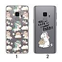 رخيصةأون حافظات / جرابات هواتف جالكسي S-غطاء من أجل Samsung Galaxy S9 / S9 Plus / S8 Plus نحيف جداً / شفاف غطاء خلفي البشروس طائر مائي ناعم TPU