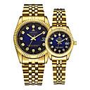 ieftine Cercei-Pentru cupluri Ceas de Mână ceas de aur Quartz potrivire Și ea Auriu 30 m Calendar Creative Analog Lux Elegant - Auriu