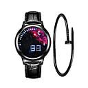 رخيصةأون ساعات الرجال-رجالي ساعة رياضية ساعة رقمية رقمي مجموعة هدية جلد أسود 30 m إبداعي تصميم جديد LCD رقمي موضة الحد الأدنى - أزرق أسود / أزرق فضي / أحمر سنة واحدة عمر البطارية / قضية