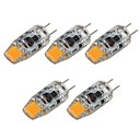 abordables LED à Double Broches-SENCART 5pcs 2 W LED à Double Broches 180 lm G4 T 1 Perles LED COB Décorative Blanc Chaud Blanc 12 V