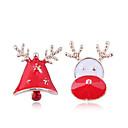 hesapli Küpeler-Kadın's Uyumsuz Vidali Küpeler - Elk, Zil Avrupa, Moda, sevimli Stil Altın Uyumluluk Noel Günlük