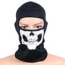 ieftine Pălării, Șepci & Bandane-cagule Face Mask Bărbați Pentru femei Camping & Drumeții Vânătoare Alpinism Bicicletă / Ciclism Keep Warm Rezistent la Vânt Uscare rapidă Iarnă Cranii Negru și Alb M / Strech / Ciclism montan