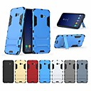 cheap Galaxy J Series Cases / Covers-Case For Samsung Galaxy J4 Shockproof / with Stand Back Cover Solid Colored Hard PC for J4 Plus