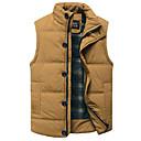 رخيصةأون القلائد-XL / XXL / XXXL أسود / أصفر مرتفعة قطن / بوليستر, Vest عادية عادي بدون كم لون سادة مناسب للبس اليومي رجالي