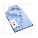 رخيصةأون قمصان رجالي-رجالي عمل الأعمال التجارية طباعة قطن قميص, منقط / هندسي نحيل / كم طويل / الربيع / الخريف