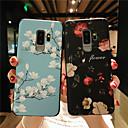 رخيصةأون حافظات / جرابات هواتف جالكسي S-غطاء من أجل Samsung Galaxy S9 / S9 Plus / S8 Plus مثلج / مطرز / نموذج غطاء خلفي زهور ناعم TPU