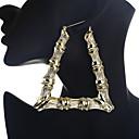 저렴한 귀걸이-여성용 클래식 드랍 귀걸이 귀걸이 숙녀 단순한 기하학 대형 보석류 골드 / 실버 제품 파티 / 이브닝 눈금 1 쌍