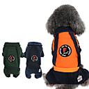 abordables Vêtements & Accessoires pour Chien-Chiens / Chats Combinaison-pantalon Vêtements pour Chien Rayure Orange / Bleu de minuit / Vert foncé Coton Costume Pour les animaux domestiques Unisexe British