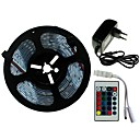 preiswerte LED Lichtstreifen-SENCART 5m Lichtsets 300/150 LEDs SMD5050 1 24Keys Fernbedienung / 1 x 2A Netzteil RGB Schneidbar / Dekorativ / Verbindbar 100-240 V 1 set