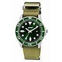 levne Pánské-Pánské Vojenské hodinky japonština Křemenný Nylon Tmavozelená 30 m kreativita Analogové Vintage Na běžné nošení - Tmavě zelená Jeden rok Životnost baterie