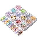 cheap Makeup & Nail Care-12 pcs Best Quality / Slim design Metalic Sequins For Finger Nail Mini Fashion nail art Manicure Pedicure Daily / Family Gathering Sweet / Colorful