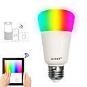 olcso LED okos izzók-JIAWEN 1db 9 W 750 lm E26 / E27 Okos LED izzók A19 31 LED gyöngyök SMD 3528 Smart / APP vezérlés / Időzítés RGBW 100-240 V