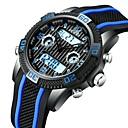 levne Pánské-Pánské Sportovní hodinky Náramkové hodinky Digitální hodinky japonština Japonské Quartz Silikon Červená / žlutá / Tyrkysová 30 m LCD Hodinky s dvojitým časem Svítící Analog - Digitál Na běžné nošen