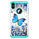 cheap iPhone Cases-Case For Apple iPhone XR / iPhone XS Max Rhinestone / Pattern Back Cover Butterfly Hard PU Leather for iPhone XS / iPhone XR / iPhone XS Max