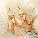 저렴한 귀걸이-여성용 태슬 드랍 귀걸이 - 스파이크 술, 빈티지, 보호 밝은 핑크 제품 행사 카니발