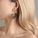 povoljno Naušnice-Žene Viseće naušnice Naušnice dame Vintage Etnikai Boho Jewelry Zlato / Pink Za Zabava / večer Svečanost 1 par