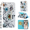 cheap iPhone Cases-Case For Apple iPhone XR / iPhone XS Max Wallet / Card Holder / with Stand Full Body Cases Flower Hard PU Leather for iPhone XS / iPhone XR / iPhone XS Max