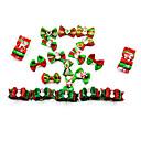 ieftine Inele-Câini Pisici Accesorii Păr Model Desene Animate Drăguț Curcubeu Nod Papion Crăciun Material Textil Curcubeu