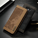 hesapli Galaxy S Serisi Kılıfları / Kapakları-CaseMe Pouzdro Uyumluluk Samsung Galaxy S8 Cüzdan / Kart Tutucu / Satandlı Tam Kaplama Kılıf Solid Sert Tekstil için S8