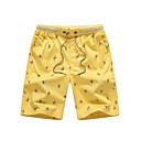 voordelige Hondenkleding & -accessoires-Heren Standaard Shorts Broek - Print Geel / Herfst / Weekend