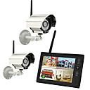 """tanie Systemy CCTV-Nowa bezprzewodowa 4ch quad dvr 2 kamery z 7 """"TFT-LCD Monitor systemu bezpieczeństwa w domu"""