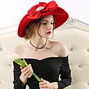 رخيصةأون Huawei أغطية / كفرات-Elizabeth السيدة الرائعة ميسيل نسائي للبالغين سيدات عتيق / معتق كنتاكي ديربي هات قبعة أسود أحمر ببيونة أغطية الرأس اكسسوارات لوليتا