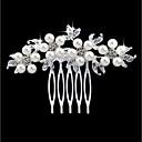 ieftine Bijuterii de Păr-Pentru femei Floral Floral Modă,Imitație de Perle Ștras Aliaj / Piepteni de Păr / Leaf Shape